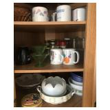 Contents of Cabinet: Dishes, Bowls, Cups