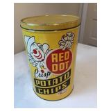 Red Dot Tin Can