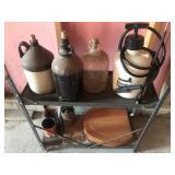 Shelf with Jugs & Sprayer