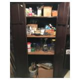 Metal Cabinet & Contents