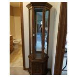 SMALL LIGHTED CURIO CABINET