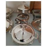 3 ASSTD SILVER PLATE CHAFFING DISHES