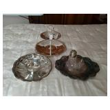 3 ASSTD SILVER PLATE SERVING DISHES