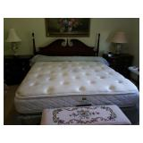 KING SIZE CHERRY SPINDLE HEAD BOARD BED
