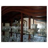 TOP SHELF CRYSTAL WHEEL CUT GLASS WARE