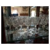 8 WATERFORD SMALL GOBLETS