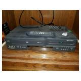 GO VIDEO VHS/DVD PLAYER W/ REMOTE