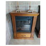 ELECTRIC FIRE PLACE IN CHERRY FINISH CABINET