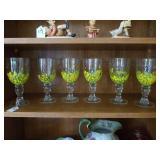 6 ASSTD HAND PAINTED FLORAL DESIGN GLASSES