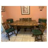 Wood Kitchen Table with 6) Chairs