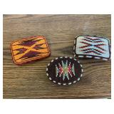 3) Beaded Native American Belt Buckles