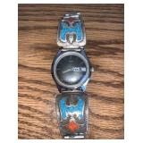Turquoise, Sterling Silver Timex Men