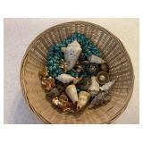 Basket of Shells, Earrings, Brooches