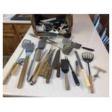 Kitchen Utensils, Knives, Basket