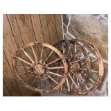 3) Wood Wagon Wheels