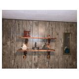 Mirror, Wood Shelf, Decorations