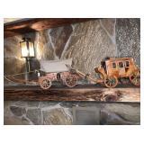 2) Wood Wagon Lights