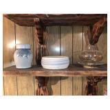 Pottery Vase, Bowl, Light