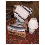Chair, Blankets, White Lamp