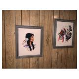Native American Needle Point Art Work