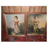 Vintage Boy and Girl Prints