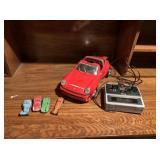 4) Metal Cars and Remote Control Porsche