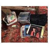 Collection of Records, Tapes and Books, Bag