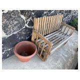 Wood Glider Bench, Flower Pot