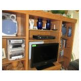 Sony TV, Sony Dvd Player, JVC Music Player