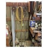 Metal Pipes, Chain, Extension Cord, Bunjee Cords