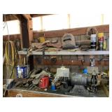 Contents of Table, Bench Grinder, Welding Mask