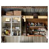 Contents of Left Wall and Cupboards,