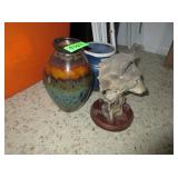 Pottery Vases, Wolf Decor