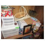 Plastic Organizers, Baskets, Office Supplies,