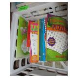 Plastic Crates, Puzzle Books, Novels