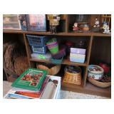 Plastic Containers, Baskets, Christmas Tins