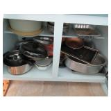 Cooking Pots and Pans, Plastic Containers