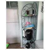 Metal Corner Shelf, Keurig, Blender, Toaster,