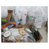 Assorted Craft Supplies: Kniting, Stitching, Wood,