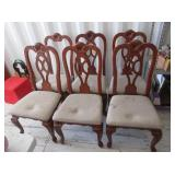 6) Padded Dining Room Table Chairs