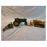 John Deere Die Cast Tractor and Grader