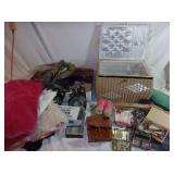 Sewing Basket, Craft Supplies, Fabric