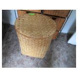 Wicker Basket and Wicker Storage Stand