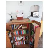 Radio, Small LED Lamp, Wicker Note Basket,