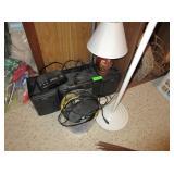 Stereo, Alarm Clock, Lamp, Landline Phone