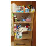 Shelf with Cleaning Supplies and Hardware