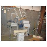 Step Ladder, Blanket Rack, Plastic Organizers,