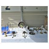 Stemware, Candle Holders, Decorative Plates,