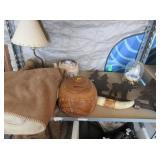 Yukon Blanket, Bear Lamp, Teapot, Carved Pot