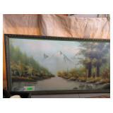 Signed Framed Landscape Painting